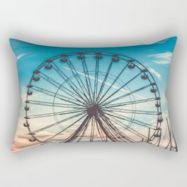 France Photography - The Paris Wheel In The Sunset Rectangular Pillow