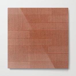 Minimal, Pattern, Boho Prints, Terracotta Metal Print