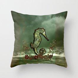 Wonderful seahorse Throw Pillow