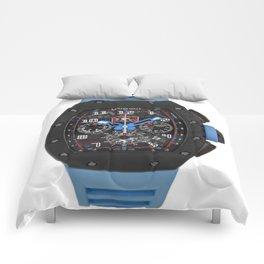 Richard Mille 011 Restivo Edition DLC Titanium Blue Flyback Chronograph 50MM Watch Comforters