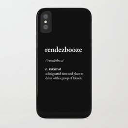 Rendezbooze black and white contemporary minimalism typography design home wall decor black-white iPhone Case