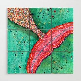 Watercolor Mermaid Tail Wood Wall Art