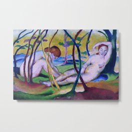 Franz Marc - Nudes under Trees Metal Print