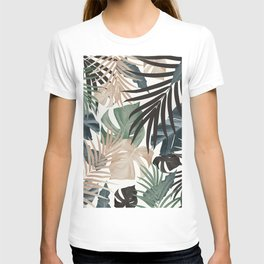 Tropical Jungle Leaves Pattern #13 (Fall Colors) #tropical #decor #art #society6 T-shirt