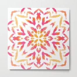 Sunset Paint Mandala - Boho Vibes on Fire - Ethnic - Indie - Free Spirit Metal Print
