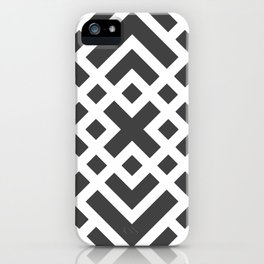 Laberinto N&B iPhone Case