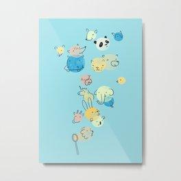 Bubble Animals Metal Print