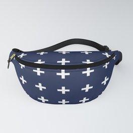Navy Blue Swiss Cross Minimal Fanny Pack