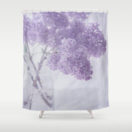 First Love - Pastel Purple Lilac Floral Decor Shower Curtain