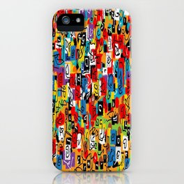 Laberinto multicolor iPhone Case
