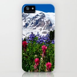Mountain Wildflower Panoramic iPhone Case