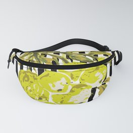 lime berries striped: illustration no.19 Fanny Pack