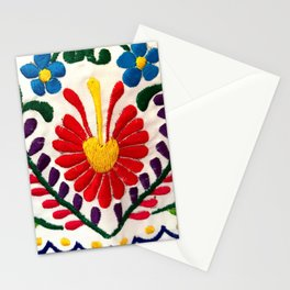 Red Mexican Flower Stationery Cards