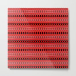 Red and Black Chain Abstract Metal Print
