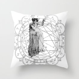 The Bane of the Spider Queen Occult Throw Pillow