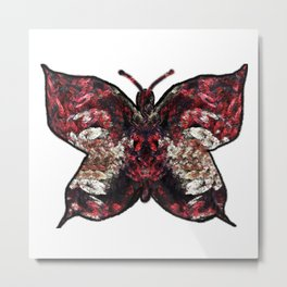 Butterfly fractal Metal Print