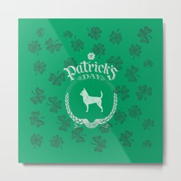 St. Patrick's Day Chihuahua Funny Gifts for Dog Lovers Metal Print