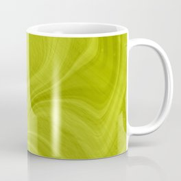 Chartreuse Swirl Marble Coffee Mug