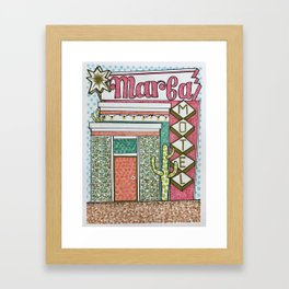 Marfa Motel—Come and Stay a While Framed Art Print