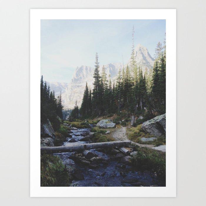 Rocky Mountain Creek Kunstdrucke