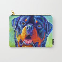 Gentle Guardian Colorful Rainbow Rottweiler Dog Carry-All Pouch