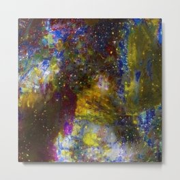 'An Unacceptable Time '20' Abstract Portrait by Jeanpaul Ferro Metal Print