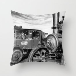 Steam Lorry And Traction Engine Throw Pillow