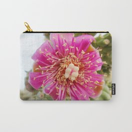Watercolor Flower, Walking Stick Cactus 01, Ventana Canyon, Arizona, The Chola Carry-All Pouch