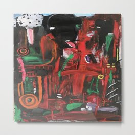 The Mocking Tongue, a beautiful red abstract Metal Print