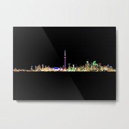 Toronto Skyline At Night From Centre Island Metal Print