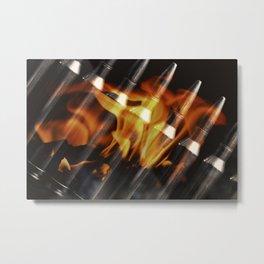 Flaming Bullets Metal Print