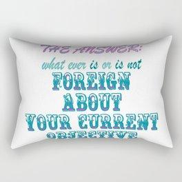 the answer Rectangular Pillow