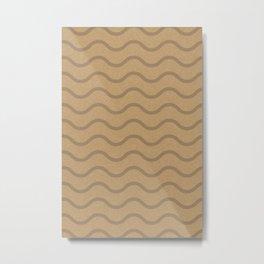 Brown Craft Pattern Metal Print