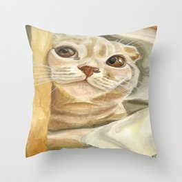 Cat Oxford Throw Pillow