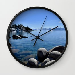 Sand Harbor, Lake Tahoe Wall Clock