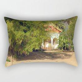 Buddhist Temple on the Mekong River Bank, Laos Rectangular Pillow