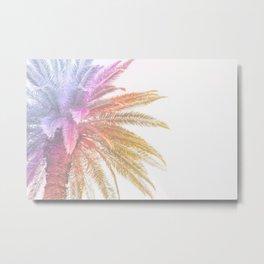 Rainbow Palm Tree Metal Print