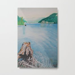 Oakridge Reservoir #4 watercolor painting Metal Print