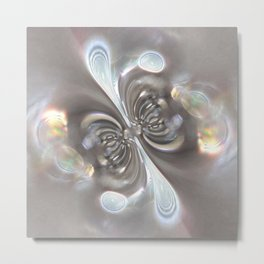 Magnetism - Abstract Art by Fluid Nature Metal Print