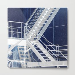 Outside stairs -- negative image Metal Print