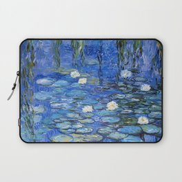 waterlilies a la Monet Laptop Sleeve