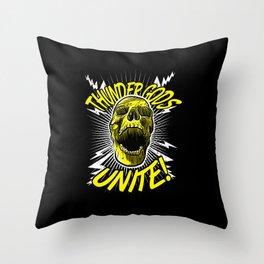 Thunder Gods Unite! Throw Pillow