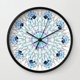 ice flake winter mandala Wall Clock