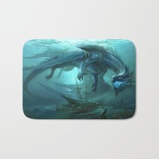 Blue Dragon v2 Bath Mat