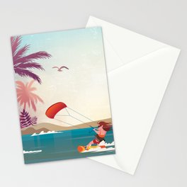 Kite surfer Woman Theme Stationery Cards