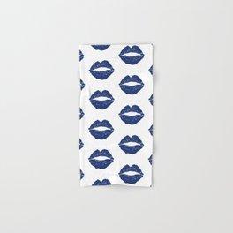 Navy Lips Hand & Bath Towel