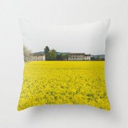 Rape field Throw Pillow