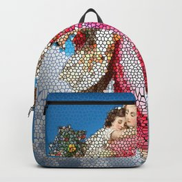 Angel and Child, Stained Glass, Divine Backpack