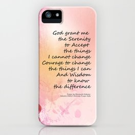 Serenity Prayer Quince Fence 3 Pink iPhone Case