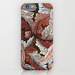 Art Nouveau William Morris Autumn Acanthus Leaves iPhone Case